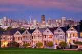 The Painted Ladies and skyline of San Francisco  California  USA