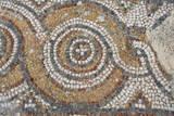 Turkey  Kusadasi  Ephesus Detail of ancient floor mosaic