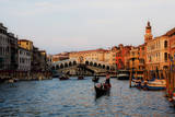 Italy  Venice  Grand Canal with View of Rialto Bridge