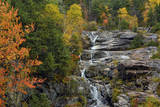 Autumn at Silver Cascade  Crawford Notch SP  New Hampshire  USA