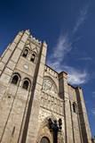Spain  Castilla y Leon Region  Avila Avila Cathedral detail