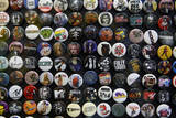 Buttons at Amoeba Music Store  Hollywood  Los Angeles  California  USA