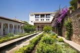 The Generalife gardens  Alhambra grounds  Granada  Spain