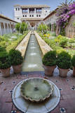 Spain  Granada Patio de la Acequia at Generalife garden