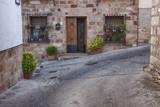 Spain  Andalusia Street scene in the town of Banos de la Encina