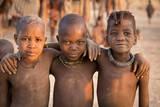 Three young Himba buddies  Opuwo  Namibia