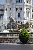 Spain  Madrid Plaza de Cibeles with Fuente de Cibele