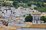 Spain  Andalucia  Cadiz Province  Grazalema View of the town