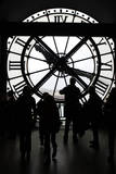 Europe  France  Paris Clock and silhouettes at Musee D'Orsay