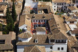 Rooftops of the town of Granada seen from the Alhambra  Spain