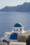 Blue church dome  Oia  Santorini  Greece