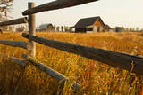 Farm house and rail fence in Grand Teton National Park