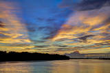 USA  Georgia  Savannah  Sunrise along Savannah River