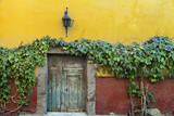 Mexico  San Miguel de Allende Doorway to colorful building