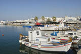 Greece  Paros  Naousa fishing boats in port in city center