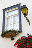 Canada  Quebec  Quebec City  Old Town window with flowers