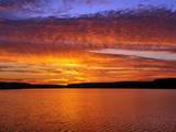 USA  Oregon Sunset over Lake Umatilla