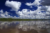 South America  Peru  Amazon Cloud reflections on Amazon river