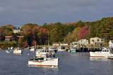 Autumn at New Harbor  Maine  USA