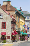 Canada  Quebec  Quebec City  Old Town shops and restaurants