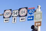 USA  New Mexico  Tucumcari Road signs