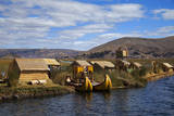 Peru  Uros Islands The floating reed islands of Lake Titicaca