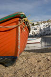 Greece  Cyclades  Mykonos  Hora Harbor view with fishing boats