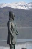 Leif Erikson statue at Brattahlid  Qassiarsuk  Tunulliarfik  Greenland