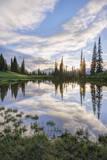 USA  Washington  Mt Rainier National Park  Tipsoo Lake Sunset