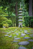 Pagoda in the Japanese Garden  Portland  Oregon  USA