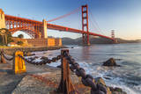 The Golden Gate Bridge from Fort Point  San Francisco  California  USA