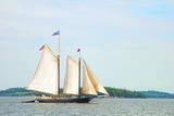 Windjammer Schooner called the Stephen Taber  Rockland  Maine  USA