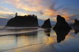 Twilight  Ruby Beach  Olympic National Park  Washington  USA