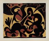 LC - Pique (noir et beige) Reproduction pour collectionneurs par Pablo Picasso