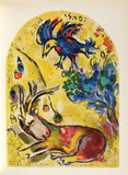 Jerusalem Windows : NephtaII Reproduction pour collectionneurs par Marc Chagall