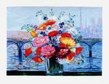 Bouquet au Pont des Arts