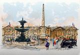 Paris  La Place De La Concorde