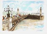 Paris  le Pont Alexandre III (2)