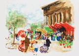 Paris  La Madeleine et le marché aux fleurs