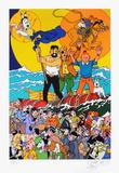 Three full moons for Tintin Édition limitée par Erró (Gudmundur Gudmundsson)