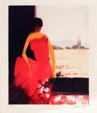 Femme à la robe rouge