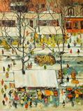 Le marché sous la neige