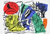 Partie De Campagne Reproduction pour collectionneurs par Fernand Leger