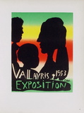 AF 1953 - Exposition Vallauris Reproduction pour collectionneurs par Pablo Picasso