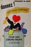 Donnez vos vieux chiffons Reproduction pour collectionneurs par Raymond Savignac
