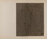 LC - Picador femme et cheval Reproduction pour collectionneurs par Pablo Picasso