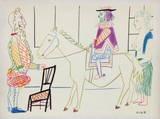 Comédie Humaine : 31.1.54. VII Reproduction pour collectionneurs par Pablo Picasso