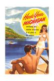 Michigan Travel Poster