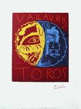 Toros Vallauris Sérigraphie par Pablo Picasso