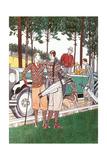 Colorful Vintage Golfers